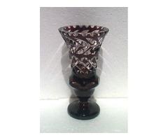 Csiszolt pácoltüveg váza
