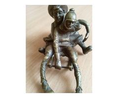 Franz Bergman ritka bronz szobor