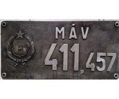 Pályatábla MÁV 411,457 mozdonyé