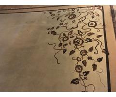 Hatalmas, gyönyörű perzsa szőnyeg, bézs színű, 295x385