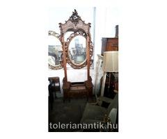 Régi barokk tükrös konzol