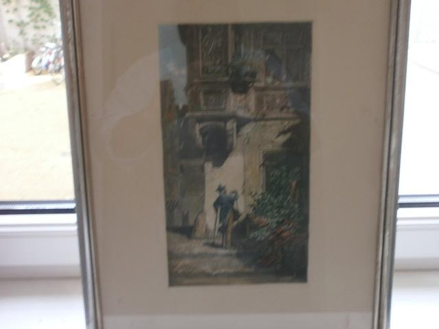 Carl Spitzweg szines könyomat 1850