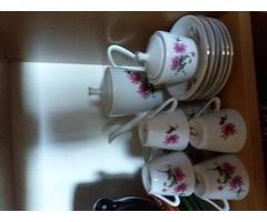 Virágos kávés készlet