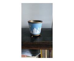 Antik Wedgewood kék-fehér mintás váza