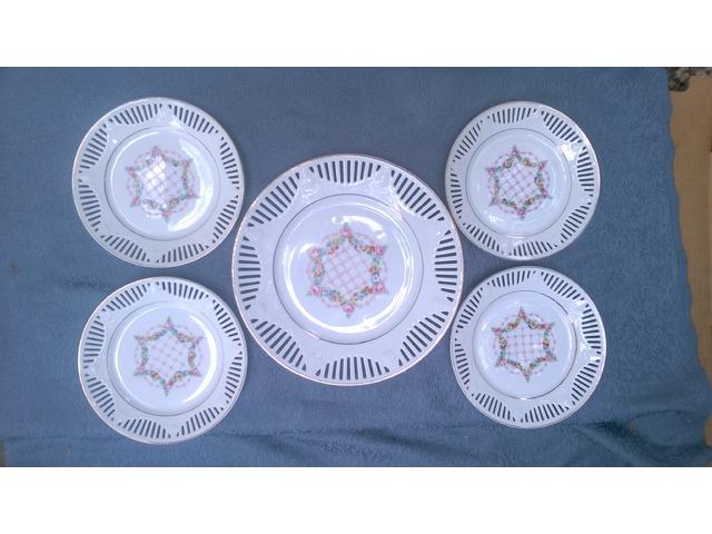 Bavaria Schumann áttörtszélű tányérok (1920-as évekből)