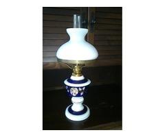 Wallendorf porcelán petróleum lámpa