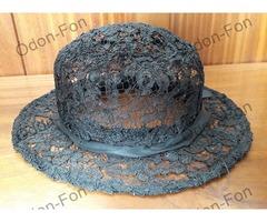 Fekete csipkés kalap