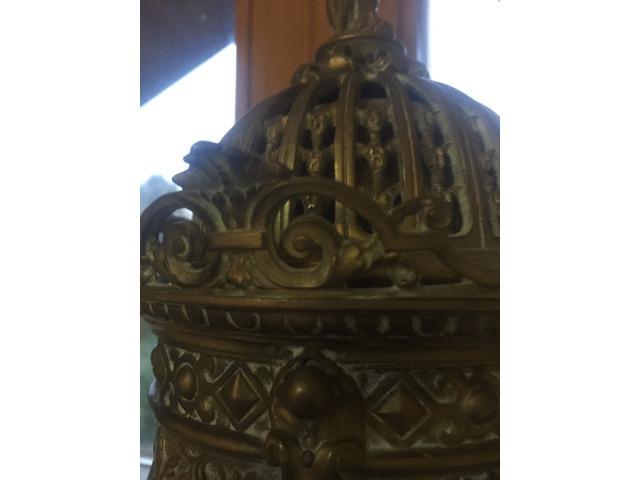 Antik Bronz kandalló óra