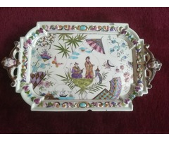 Keleti motívumú porcelán tálca