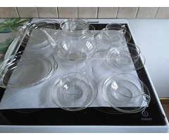 Eredeti jénai üveg teáskészlet 26db-os