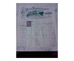 Bolti számlák 1915-1917.  5  db