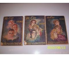 AZ EST 1930 Hármas kiadása. I.Férfi könyve , II.Nö könyve ,III.A Gyermek könyve
