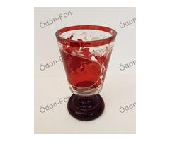 Rubin pácolt biedermeier pohár