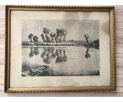 Zádor István: Csónak a tavon (1926 vagy 1936)