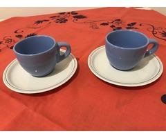 Zsolnay 2-személyes kék-fehér kávéskészlet