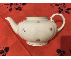 Hollóházi elegáns porcelán teáskanna