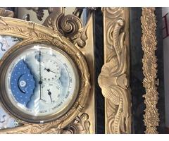 Tűzaranyozott kandalló óra