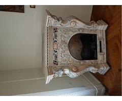 porcelán antik gázkandalló