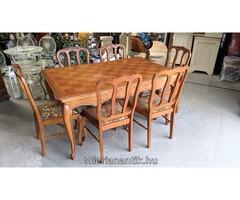 Neobarokk kihúzhatós asztal 6 székkel