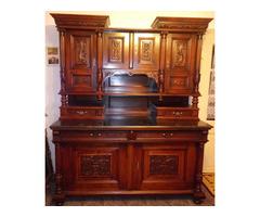 XIX. századi restaurált német tálaló szekrény