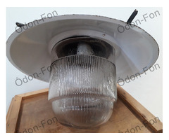 Zománc ernyős lámpa üvegburával