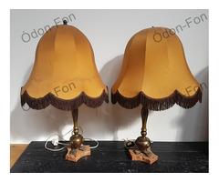 Márvány talapzatos asztali lámpa pár