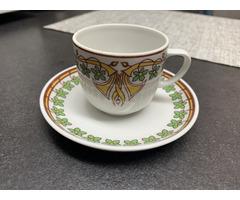 Hollóházi porcelán mokkás kávés készlet 6 személyes új