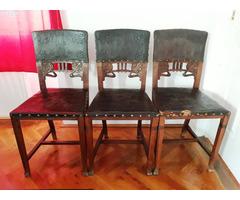 Antik Ó-német bőr székek az 1800-as évek végéről eladók