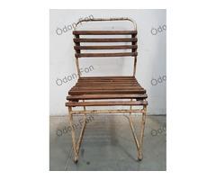 Barna léces kerti szék