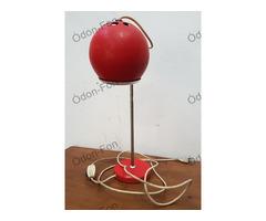 Retro piros asztali lámpa