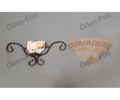 Konzol típusú fali lámpa meander mintával 3 db