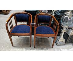Artdeco szék kék kárpittal