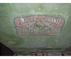Antik szőlődaráló Hofherr-Schrantz fellelt hiánytalan állapotban