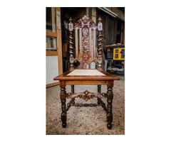 Antik restaurált szék garnitúra 84 db)