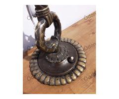 Asztali bronz lámpa, ernyő nélkül