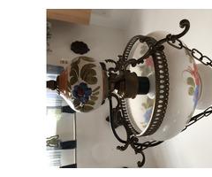 Majolika betétes lüszter lámpa