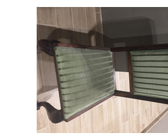 Antik restaurált étkezőasztal székekkel