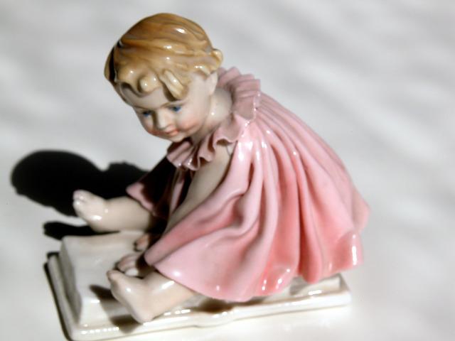 ART DECO KARL ENS porcelánfigura PORCELAIN FIGURINE