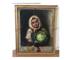 Ismeretlen festő – Lány káposztával