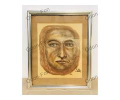 Ismeretlen művész – Férfi arc rajz