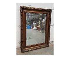 Tükör bronzírozott keretben fazettált tükörrel