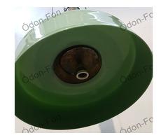 Ellensúlyos mennyezeti lámpa zöld üvegburával