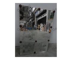 6 kazettás antikolt tükör rozettákkal