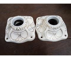 Szecesziós porcelán foglalat pár