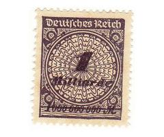 Német birodalom forgalmi bélyeg 1923