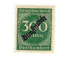 Német birodalom hivazalos bélyeg 1923