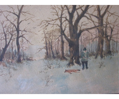 Téli vadászjelenet