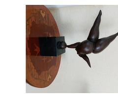 Eladó szignált bronz szobor