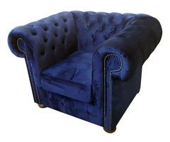 Chesterfield bársony fotel