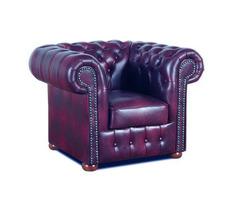 Chesterfield bőr fotel